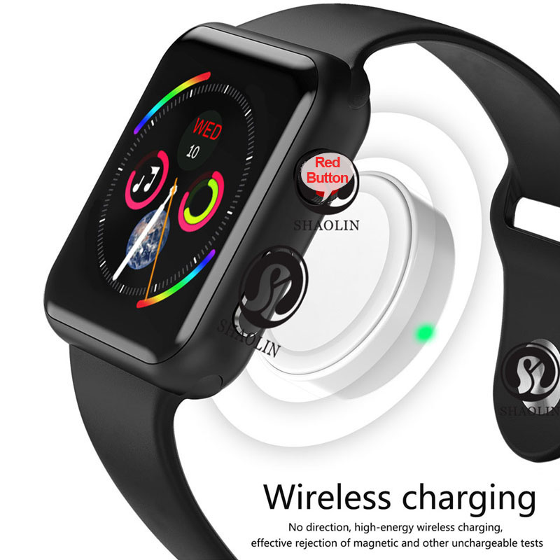 Men Women Bluetooth Smart Watch Series 4 1 1 SmartWatch 42mm for apple watch iOS Android Samsung Phone Heart Rate ECG Pedometer in Smart Watches from Consumer Electronics