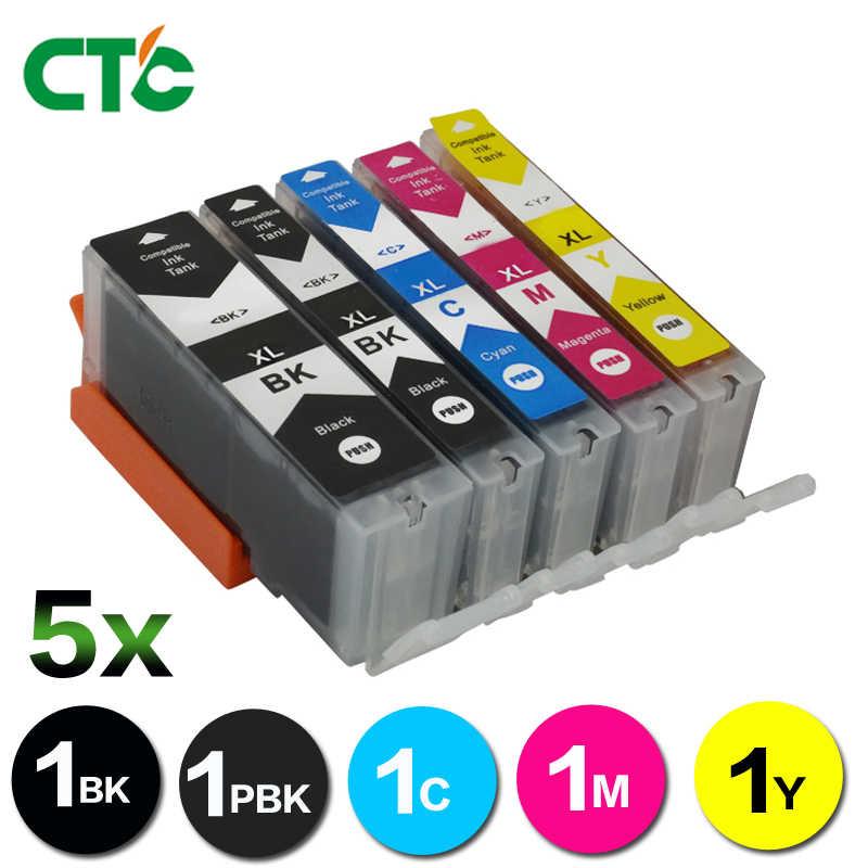 CTC 5 ピースキヤノン MG5750 Compitalbe MG5751 MG5752 MG5753 MG 5750 5751 5752 5753 インクカートリッジプリンタ PGI570