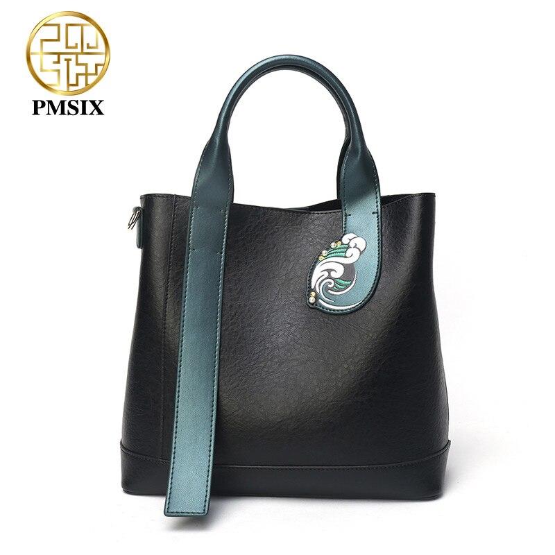 PMSIX Large capacity Simple casual zipper High quality bolsa feminina luxury handbags women bags designer
