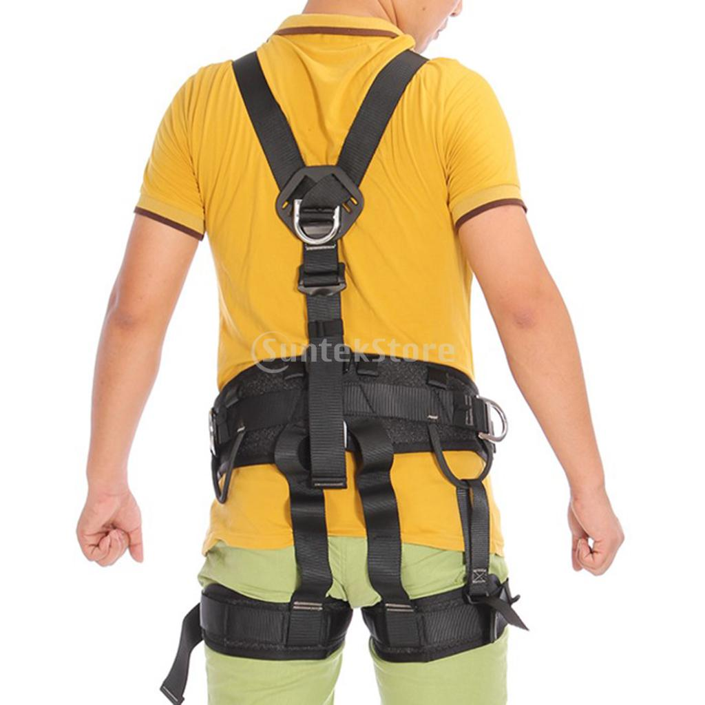цены Full Body Outdoor Rock Tree Climbing Rappelling Mountaineering Safety Seat Bust Sitting Belt Harness Protection Gear