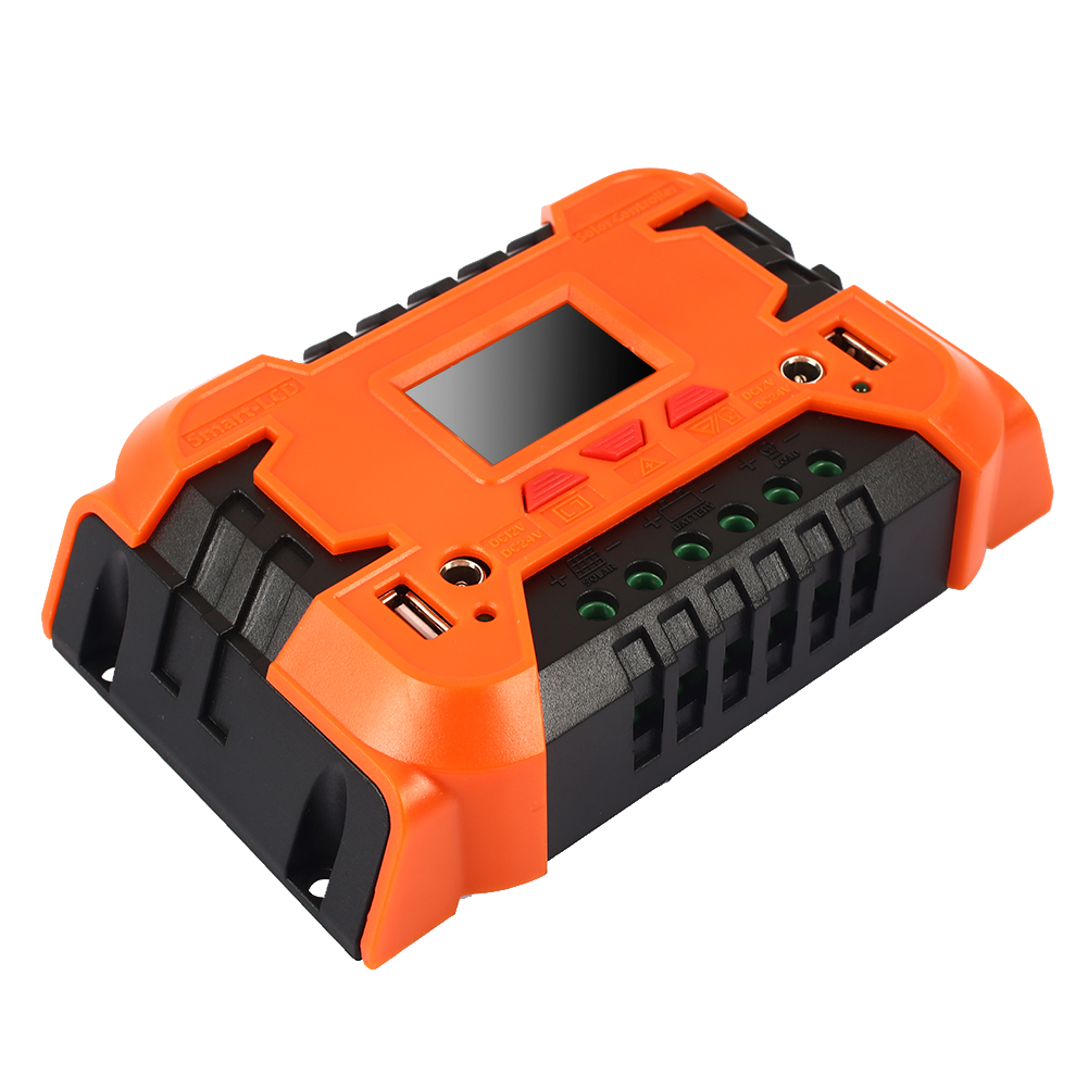 10A 20A Солнечный контроллер ЖК-функция двойные солнечные панели из кремня регулятор прочный блок управления питанием панели солнечных батарей заряда батареи - Цвет: 10A