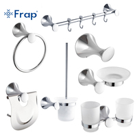 Frap The New 7 Pieces Bathroom Accessories Hook Towel Ring Toothbrush Cup Toilet Paper Holder Toilet