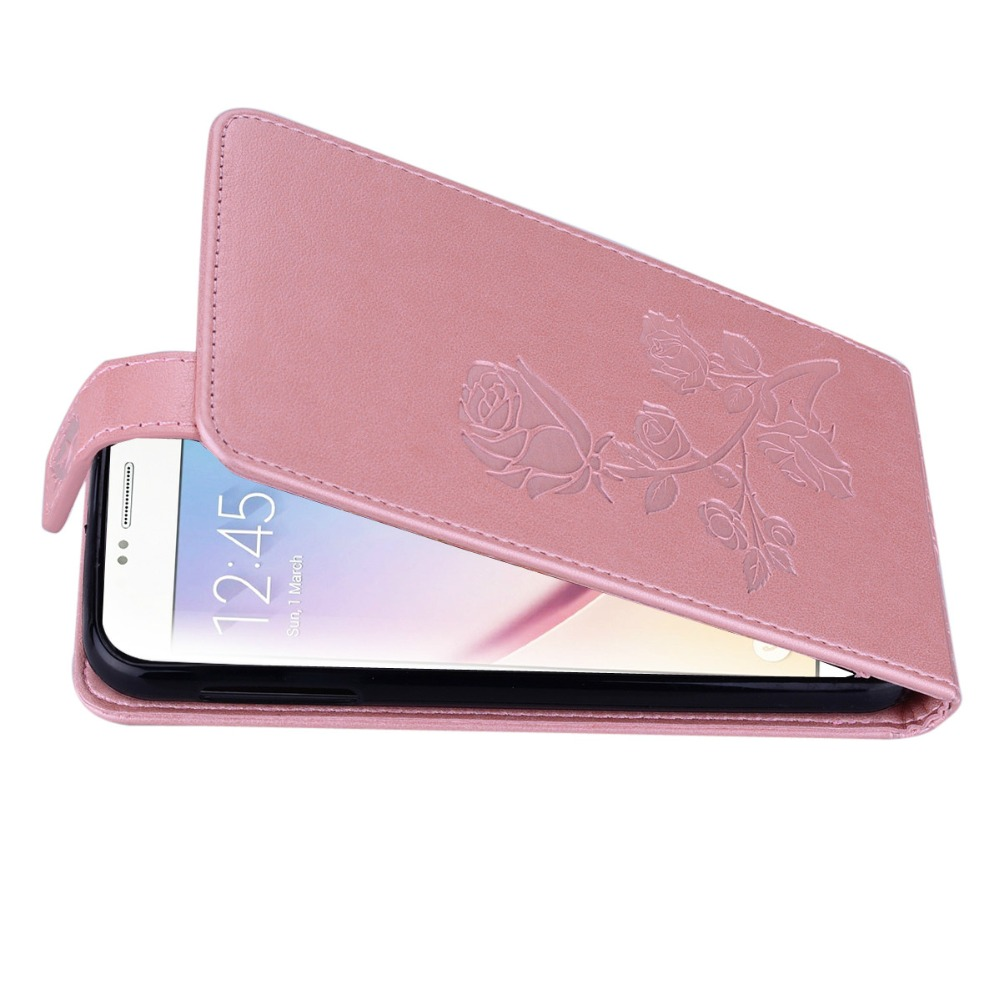 Konfurer Magnetic Flip Luxury Leather Phone Case For Samsung Galaxy S6 Light Weight Ultra Thin Cover Case Holster Bag