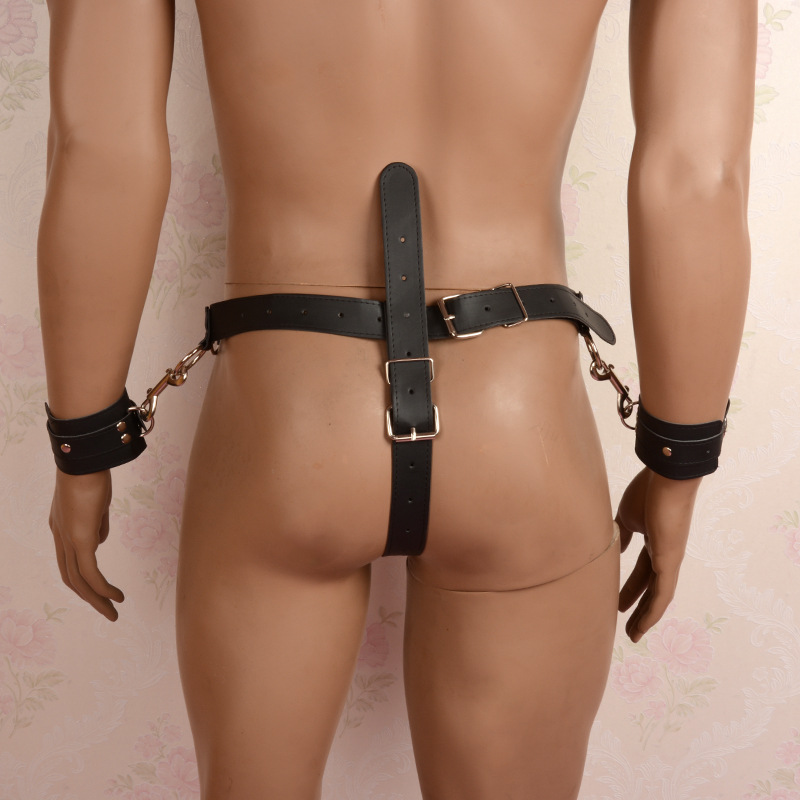 Aliexpress.com   Buy Sex Bondage Restraints Men Fetish Bondage Male PU  Leather Harness with Handcuffs and Cock Ring Adult Games Sex Toys for  Couples from ...