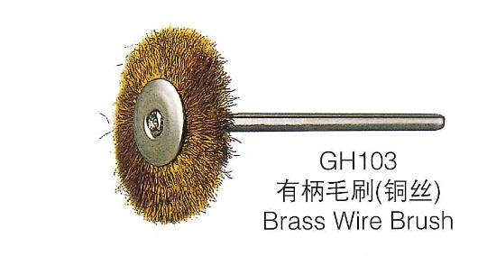 100 pcs Mini escova Roda de Arame com haste de metal de Bronze para jóias polimento moagem de limpeza