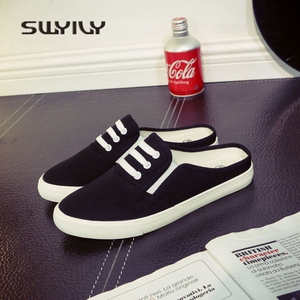 Image 4 - SWYIVY 44 Unix Sneakers 2018 Spring Summer Woman Canvas Slippers Lovers Casual Slip On Lazy Shoes Female Breathable Sneakers