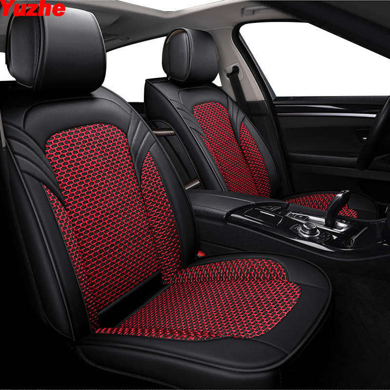 Yuzhe automobiles Leather Universal car seat cover For opel mokka seat ibiza skoda octavia a5 mercedes w210 w212 honda civic-in Automobiles Seat Covers from Automobiles & Motorcycles    1