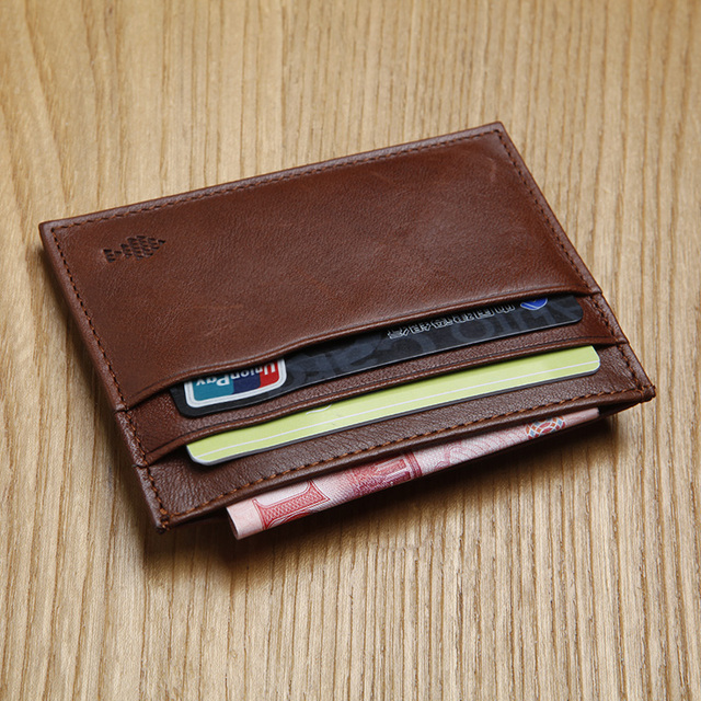 381bf89ef70e LANSPACE men's leather card id holders brand wallet card holder designer  coin purses holders