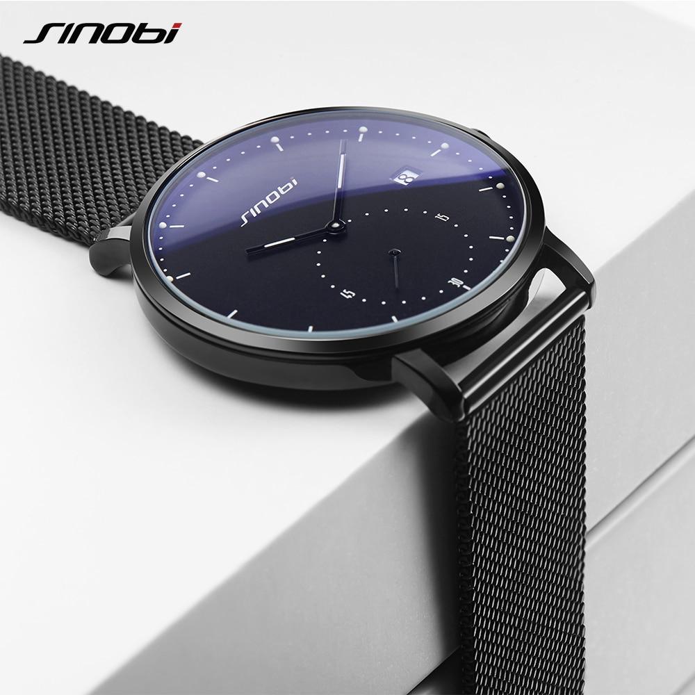 SINOBI montres homme Top Marque De Luxe montre-bracelet étanche quartz Lumineux Pointeur Japon Mouvement Genève Horloge Relogio Masculino