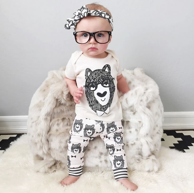 2pcs HOT Baby Girl Boy Fashion Clothes Newborn New Short Top+Pants Trousers Set Outfit Ropa de Bebe Character Tops Sets Clothing