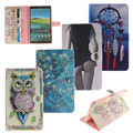 Lion Tiger Owl abstract painting Wallet PU Leather Stand Case Cover For Samsung Galaxy Tab E 9.6 T560 SM-T560 T561 Case