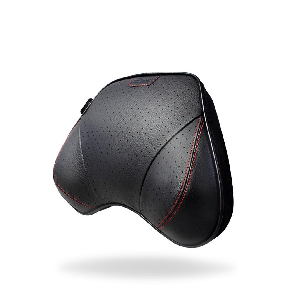 Genuine Cow Leather Memory Foam Car Neck Pillow Car Seat Headrest Pillow Cushion Automobile Interior Accessories