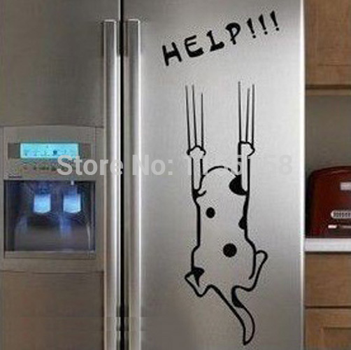 A6 Free Shipping Refrigerator Fridge Art Wall Stickers Wall Decals House Decoration