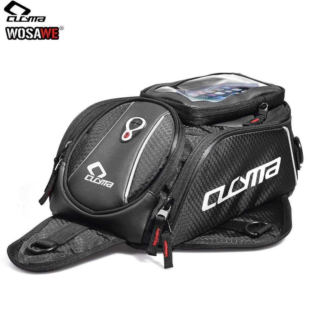 CUCYMA moto réservoir de carburant sacs moto magnétique sac étanche sac à bandoulière écran tactile poches pour téléphone portable