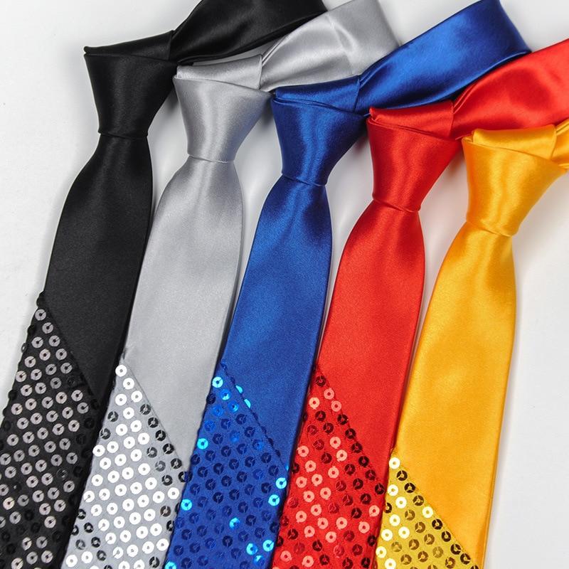 Kenntnisreich Pailletten Party Herren Krawatten Mann Elegante Krawatten Corbatas Hombre Gravata Woven 5 Cm Dünne Krawatte Business Gradienten Tie Für Männer Krawatte Gut FüR Energie Und Die Milz