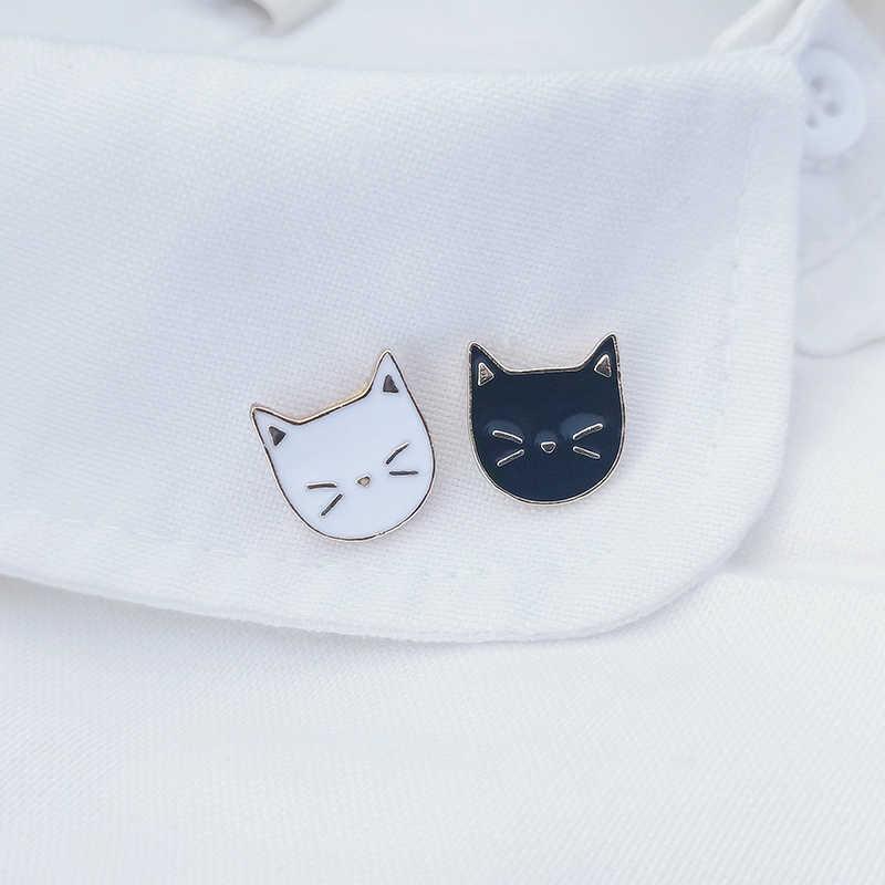 2 ピース/セットホット漫画かわいい猫動物エナメルブローチピンバッジ装飾ジュエリースタイルのブローチギフト