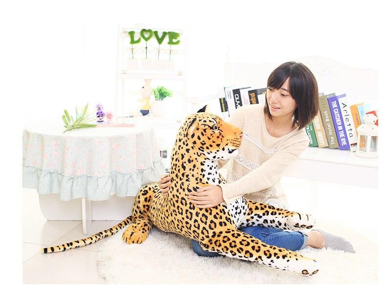 Otturazioni giocattolo, simulazione animale grande circa 105 cm leopardo peluche, regalo di compleanno h531Otturazioni giocattolo, simulazione animale grande circa 105 cm leopardo peluche, regalo di compleanno h531