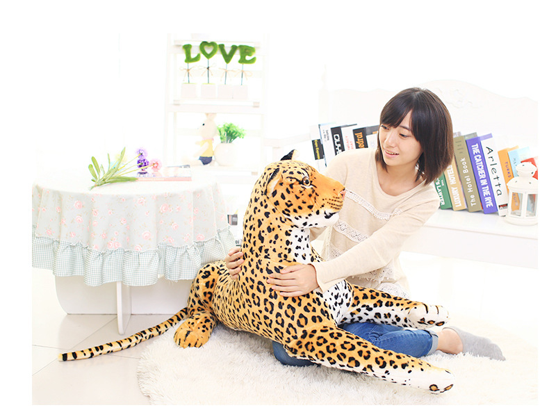 fillings toy, simulation animal large about 105cm leopard plush toy,birthday gift h531 simulation animal huge leopard plush toy 110x70cm high quality can be rided birthday gift christmas gift w0442