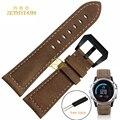 Pulseira de couro genuíno pulseira inteligente 26 MM para Derek Garmin Fenix Fenix3 3 faixa de relógio pulseira Pulseira Estilo retro Nubuck
