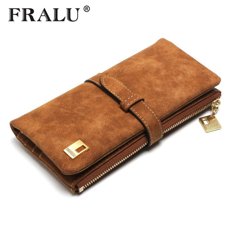 Women Wallet Luxury Matte PU Female Leather Card Wallet Long Zipper Soft Fashion Ladies Long Day Clutch Coin Purse Card Holder