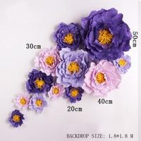 Giant Simulation Cardboard Crepe Paper Rose Flowers Showcase Wedding Backdrops Props flores artificiais para decora o 7 Options