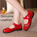 spring 1 pair Child  genuine leather princess shoes single shoes female girl  rhinestone shoes