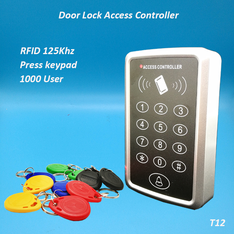 Wiegand26 RFID Access Control Reader Password Keypad Time Clock Free 5pcs cards