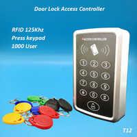 Kostenloser Versand 125Khz Rfid Access Control System Karte Türschloss Controller Tastatur Tür Access Controller