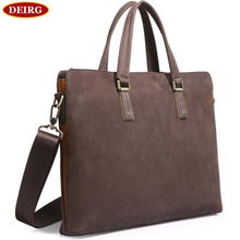 Nubuck Leather Men Briefcase Fit 14 Inch Laptop Top Quality Simple And Generous Design Handbag Cowhide Tote Bag PR0811323