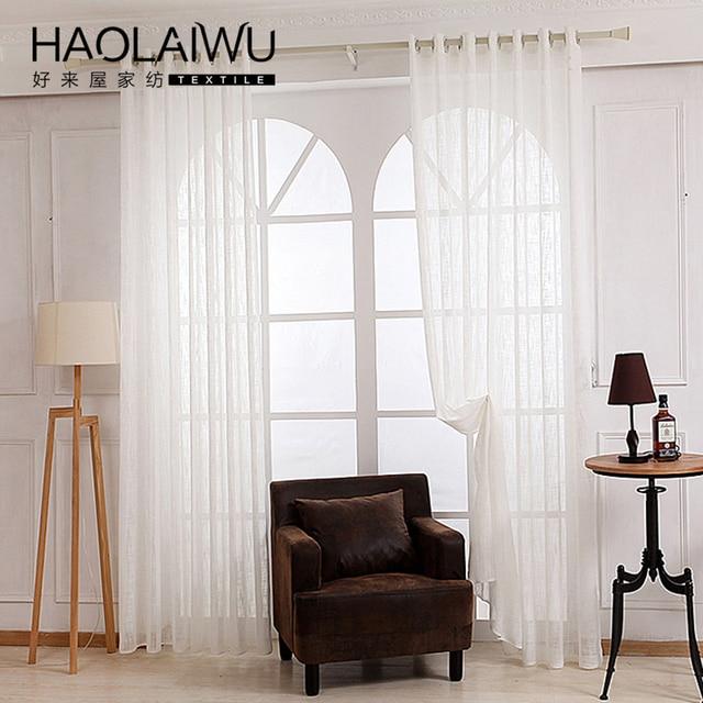 Wit kleur tulle sheer gordijn voor slaapkamer of woonkamer gordijn ...