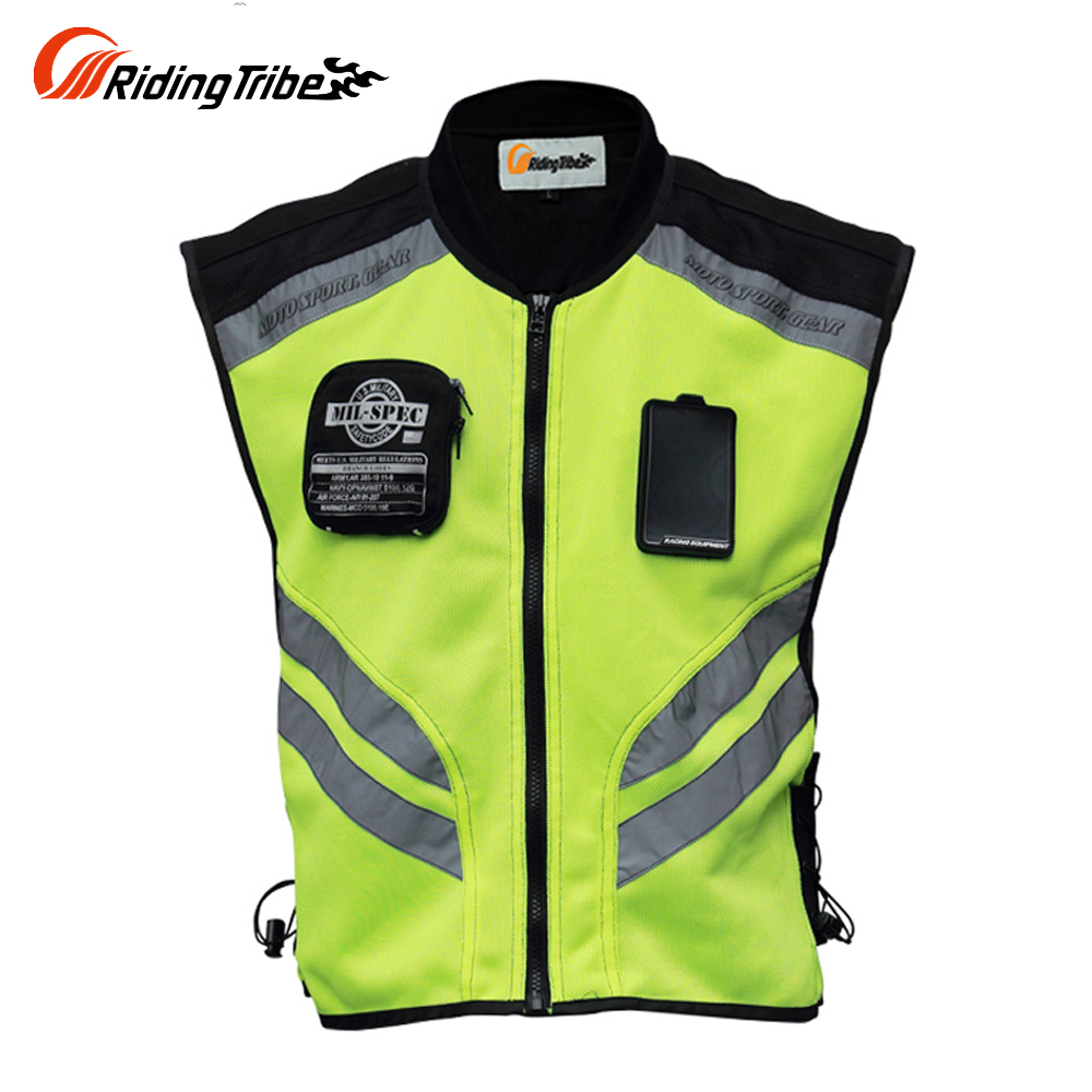Riding Tribe Motorcycle Jacket Summer Reflective Safety Clothing Racing Vest Moto Motorbike Safety Security Reflective VestsRiding Tribe Motorcycle Jacket Summer Reflective Safety Clothing Racing Vest Moto Motorbike Safety Security Reflective Vests