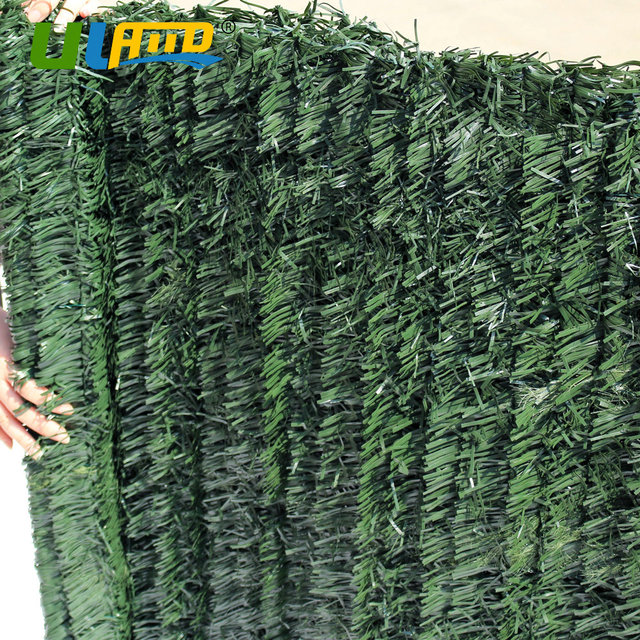 Uland 1mx3m Balcony Cover Garden Fence Decor Artificial Boxwood Hedge Faux Ivy Plastic Green Plants Privacy