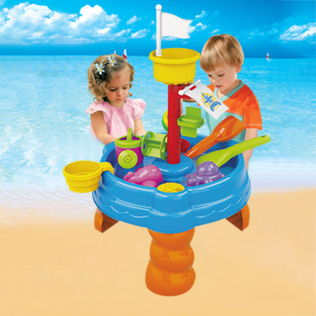 Set Kids Sand Pit Set Beach Sand Table Water Outdoor Games Water Playing Sand Dredging Tool For Kids Children A510