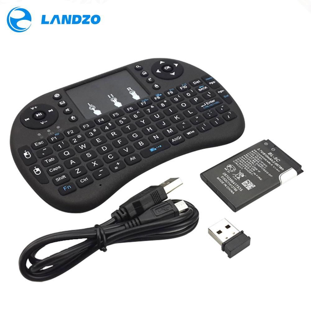 LANDZO Electronic Technology Co.,Ltd raspberry pi keyboard Mini Wireless Keyboard 2.4G with Touchpad Handheld