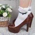 Princesa dulce lolita calcetines Tutuanna 100% algodón salpican pequeños arco dobladillo de la colmena del color sólido calcetines cortos calcetines gentlewoman