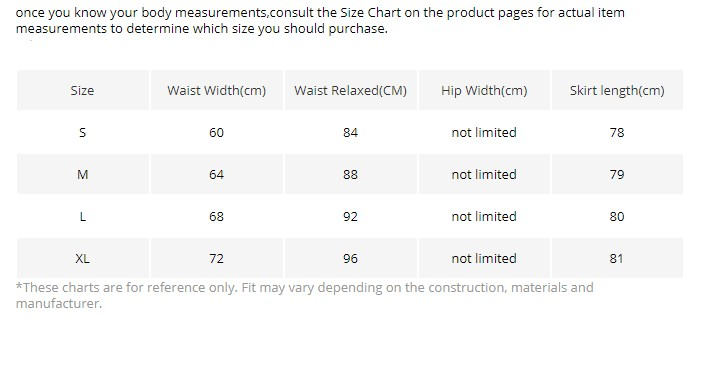 192b10128c15  These charts are for reference only. Fit may vary depending on the  construction