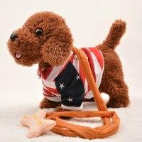 Funny Electronic Dog Pet Singing Walking Musical Plush Pet Robot Dog Toys for Children Interactive Toys For Kids Baby
