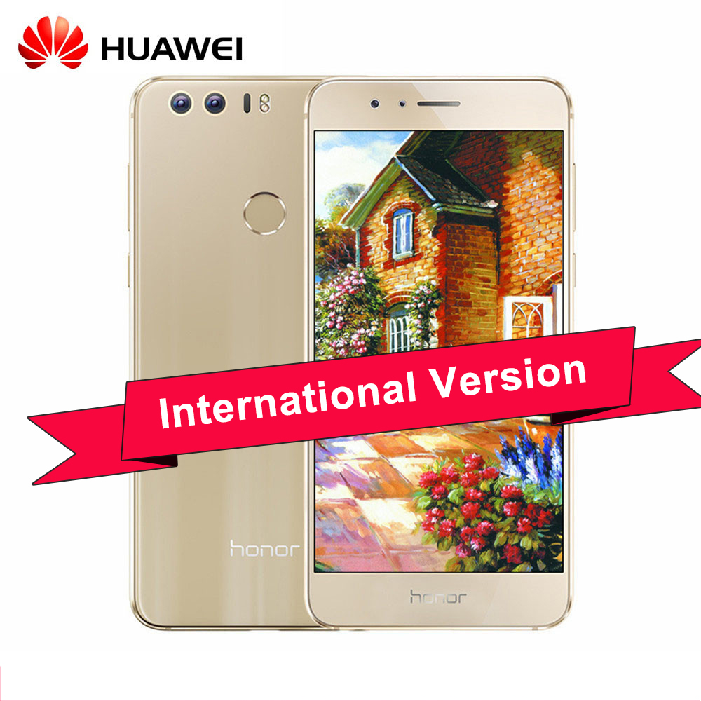 """Цена за Оригинал Huawei Honor 8 5.2 """"ips fhd кирин 950 android 7.0 4 г td lte смартфон 4 ГБ ram 64 ГБ rom 12mp touch id глонасс"""