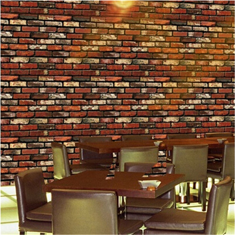 Vintage 3d stereo brick wallpaper rock imitated stonewall vintage 3d stereo brick wallpaper rock imitated stonewall restaurant living room background wallpaper diy home decoration in wall stickers from home sciox Choice Image