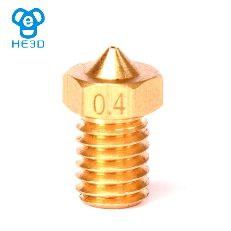 2Pcs 3D Printer Extruder Brass Nozzle M6 Thread 1.75mm For Print Head