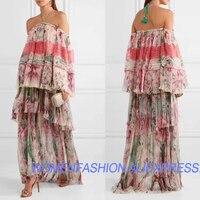2018 silk dress vestido de festa loose beach summer chiffon dress bohemian halter sexy maxi dress lace vadim beach long dress