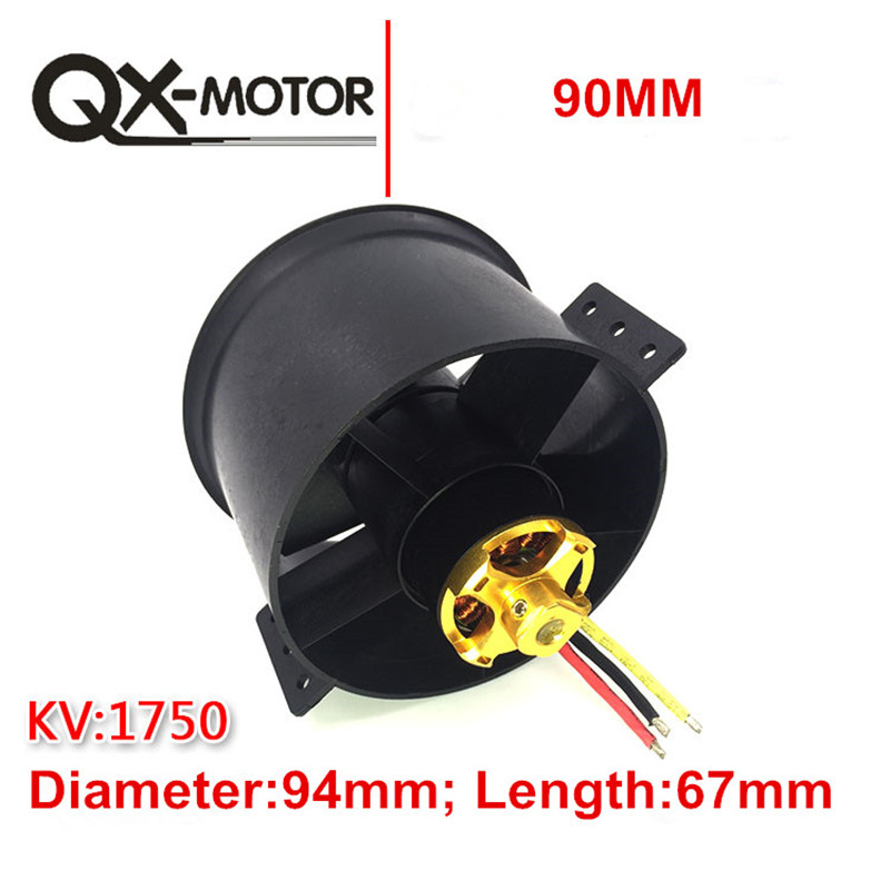 Image 3 - QX MOTOR 90mm 6 /12 Blades Ducted Fan EDF Unit With  1750KV 1550KV  Motor 6S Version For RC Airplane Model Plane Parts-in Parts & Accessories from Toys & Hobbies