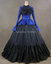 Victorian Corset Gothic/Civil War Southern Belle Ball Gown Dress Halloween dresses  US 4-16 V-801