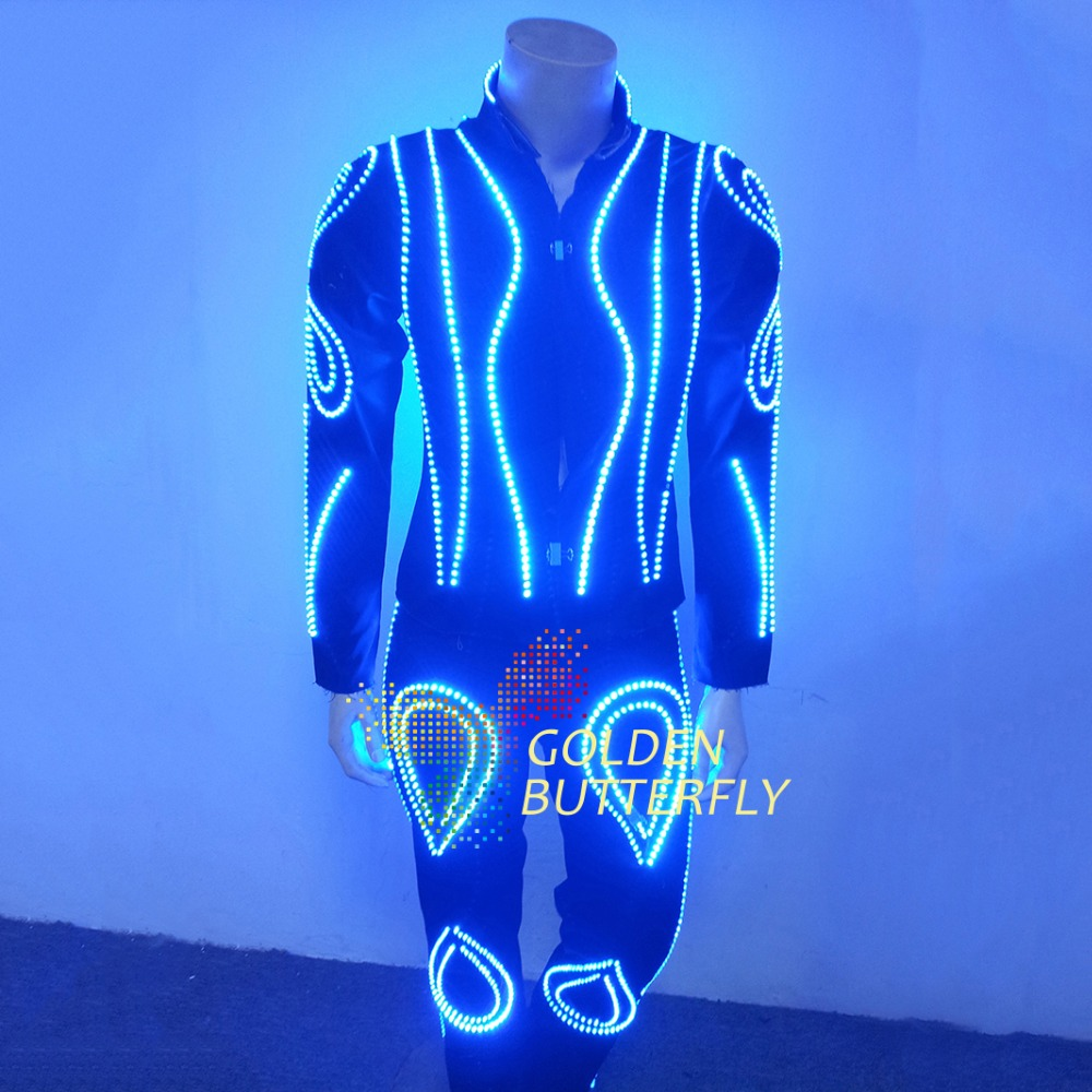 LED Clothes Luminous Clothing Glowing font b Suits b font EL Costumes 2015 Hot Fashion Show