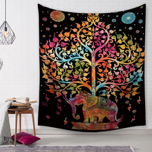 Elephant Print Tapestry Wall Hanging Decor Polyester Wall Cloth Thin Blanket For Home Bedroom Office HD Decorative Tapestry home decor elephant print wall hanging tapestry