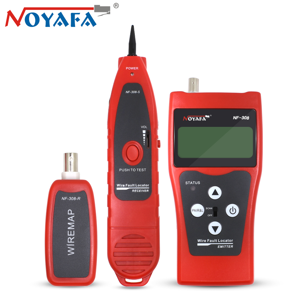 Noyafa NF-308 Network Telephone Cable Tracker Tester RJ45 RJ11 LCD BNC USB Toner Length Wire Fault Detector Line Tracer Finder new rj45 rj11 ethernet lan network cable tester wire tracker detector telephone wire tracer line finder tester with bnc terminal