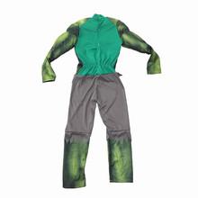 The Avengers Hulk kostium dla chłopców Cosplay kostium na halloween dla dzieci karnawał ubrania dla dzieci prezenty Fantasy Muscle Mask tanie tanio Kostiumy Chłopcy Spodnie Zestawy Poliester Film i TELEWIZJA hulk costume Finssy