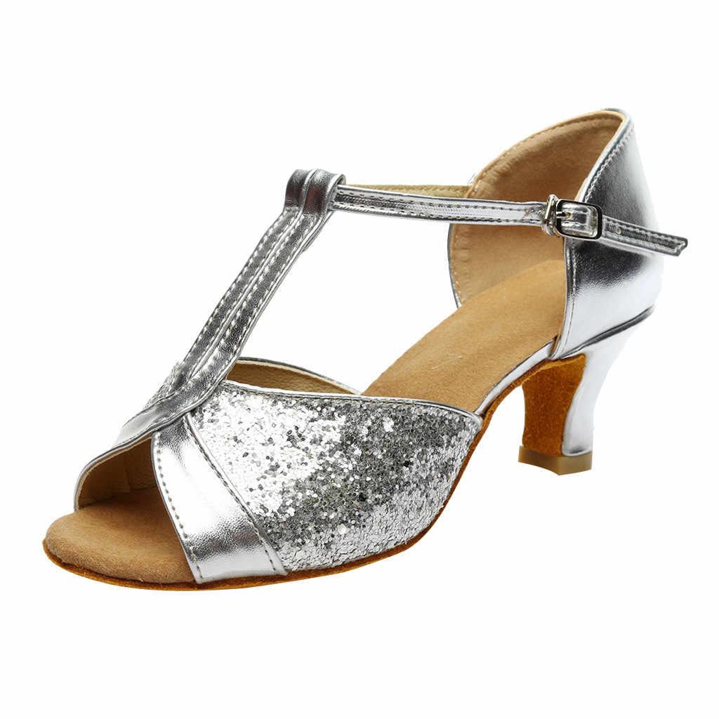 Tinh tế mát practicalWomen của Màu Sắc Thời Trang Rumba Waltz Prom Phòng Khiêu Vũ Latin Salsa Dance Giày Dép Giày Dép Thời Trang