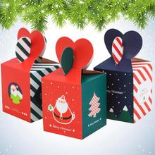 Big Size Candy Packaging Box Creative Sweets Apple Candy Boxes For Xmas Christmas 60pcs