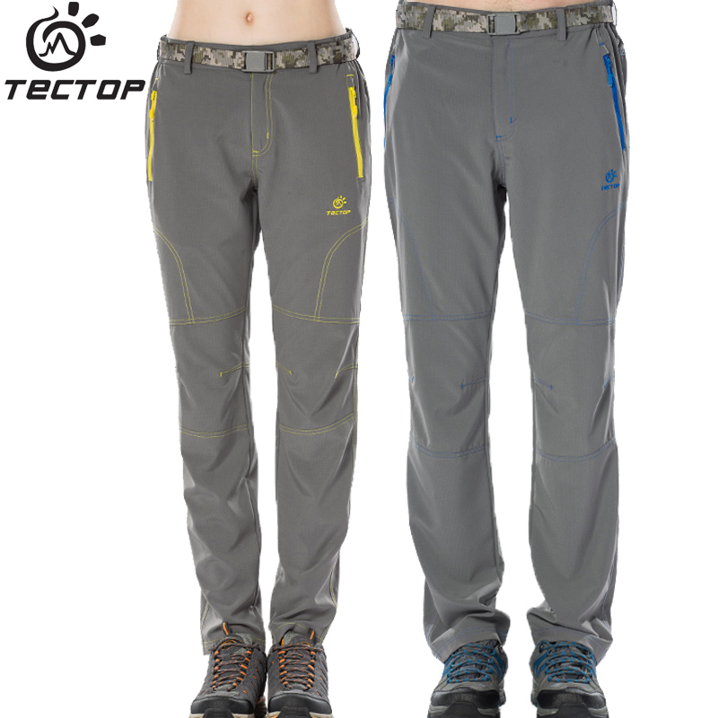 Tectop Women male comfortable quick-drying elastic trousers spring and summer running sports lovers ultra-light pants 6179